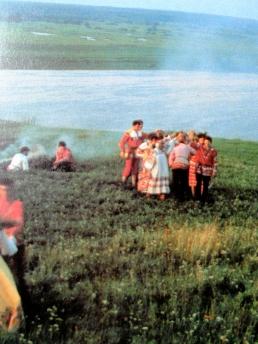 Russian peasants bonfire