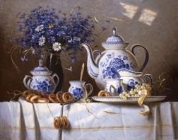 gzhel tea time