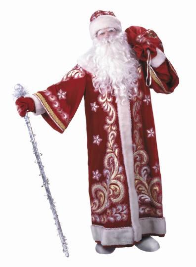Grandpa Frost in his fur coat
