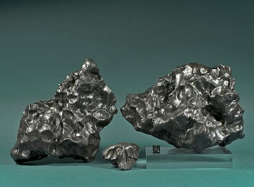 Fragments of the iron meteorite