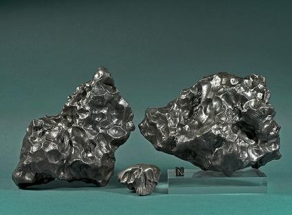 Fragments of the iron meteorite