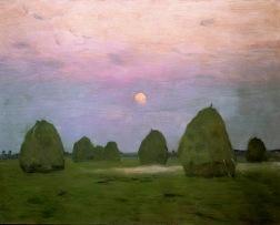 Twilight. Haystacks 1899